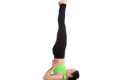 Sarvangasana or Shoulder Stand and Halasana or Plough Pose